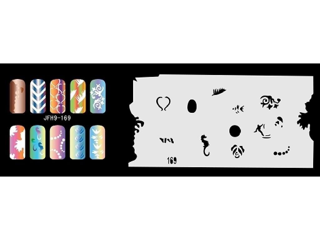 Šablona na nehty (airbrush nail art) JFH09-169
