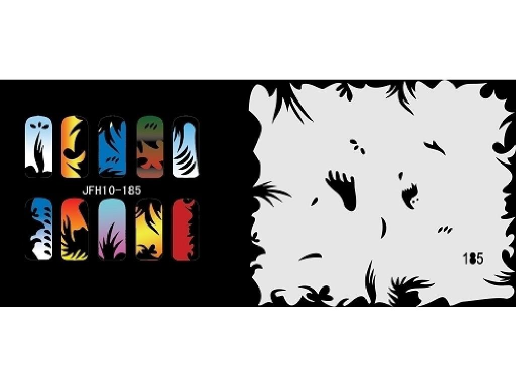 Šablona na nehty (airbrush nail art) JFH10-185