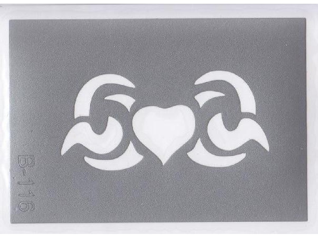 Šablona pro třpytivé tetování  B116