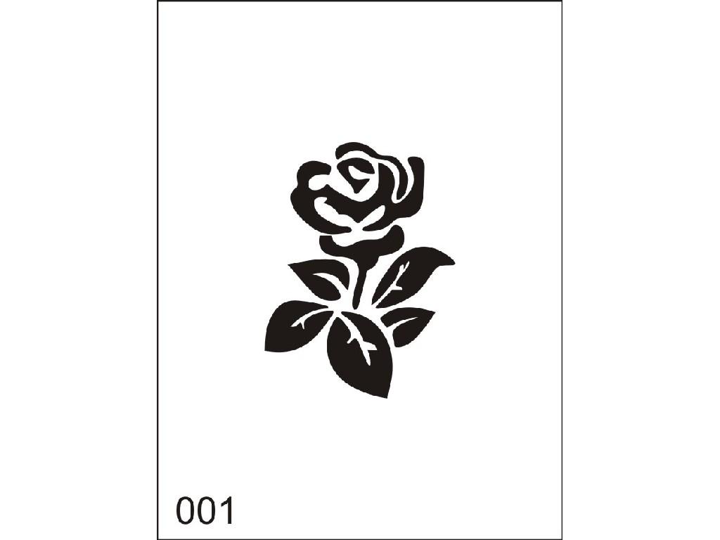 Šablona pro dočasné airbrush tetování M001 - 6,5 x 8,5 cm