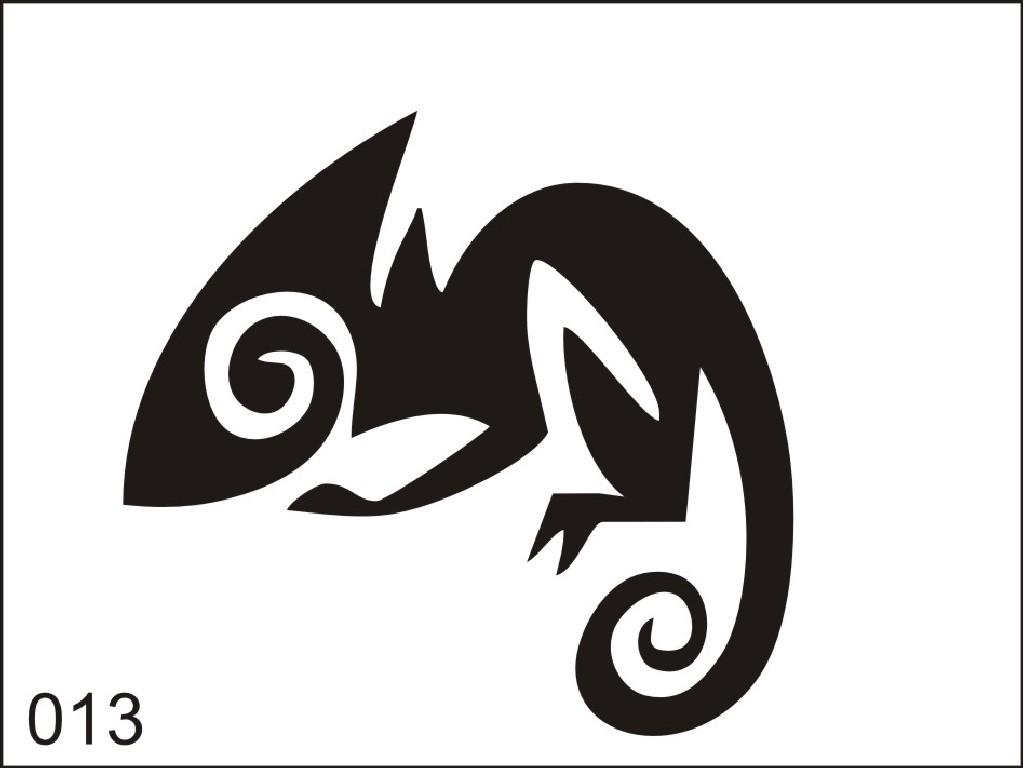 Šablona pro dočasné airbrush tetování M013 - 6,5 x 8,5 cm