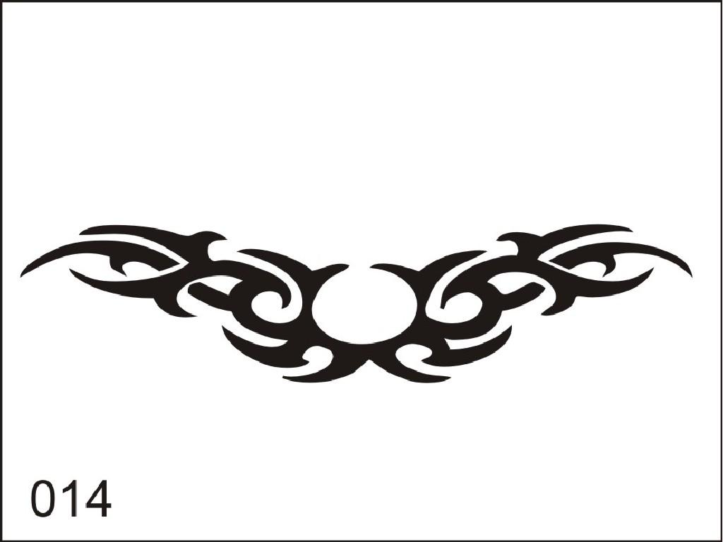 Šablona pro dočasné airbrush tetování M014 - 6,5 x 8,5 cm