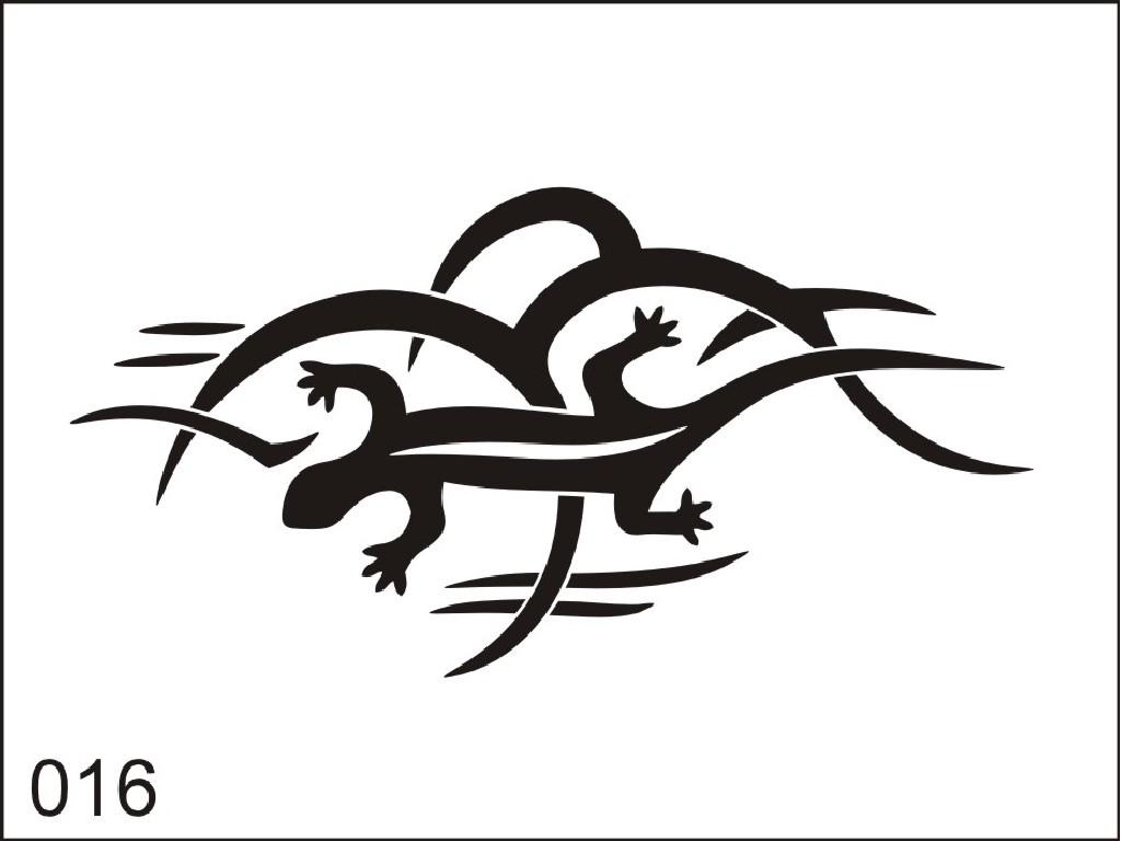 Šablona pro dočasné airbrush tetování M016 - 6,5 x 8,5 cm