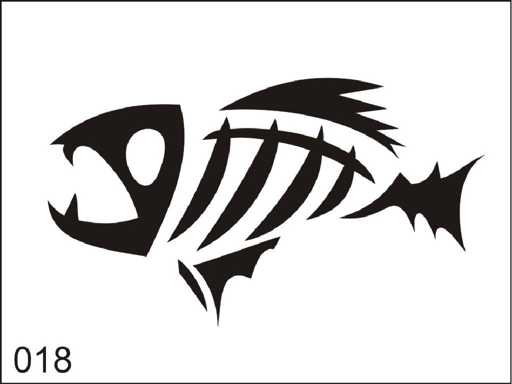 Šablona pro dočasné airbrush tetování M018 - 6,5 x 8,5 cm