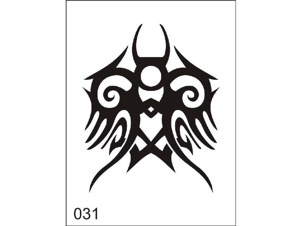 Šablona pro dočasné airbrush tetování M031 - 6,5 x 8,5 cm