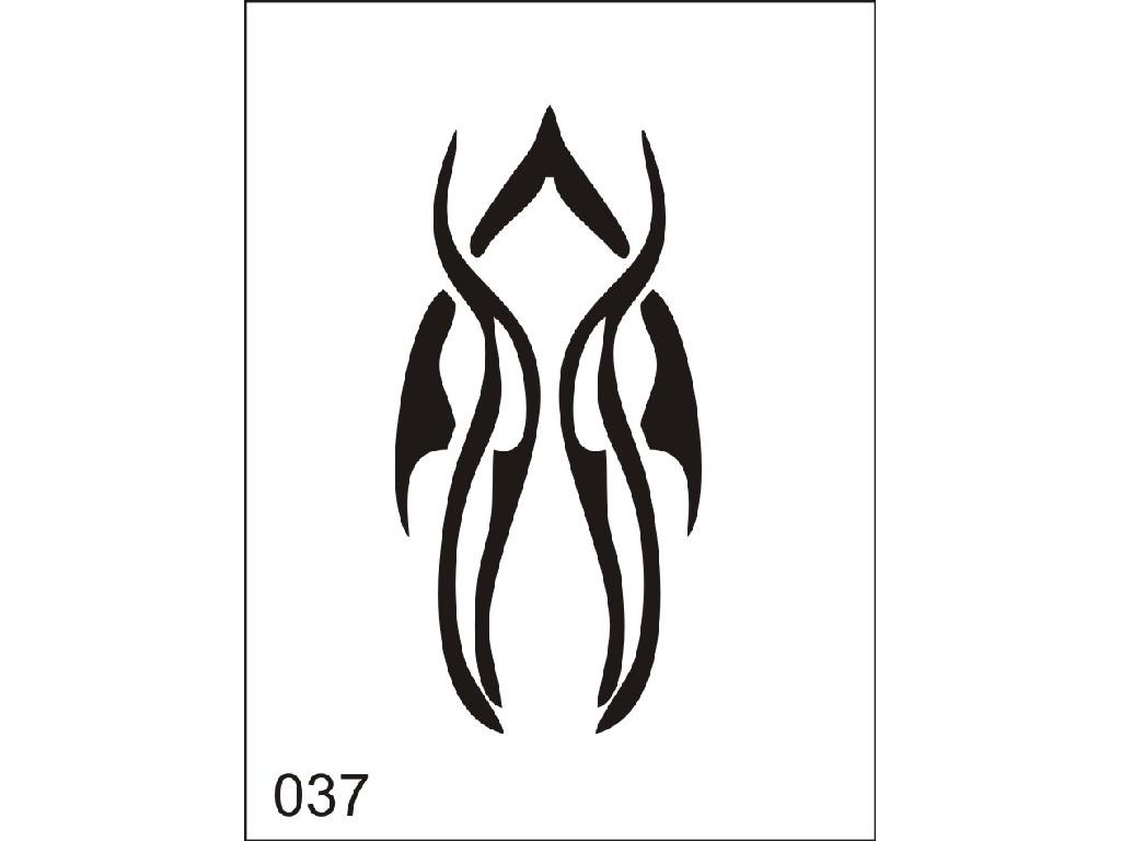Šablona pro dočasné airbrush tetování M037 - 6,5 x 8,5 cm