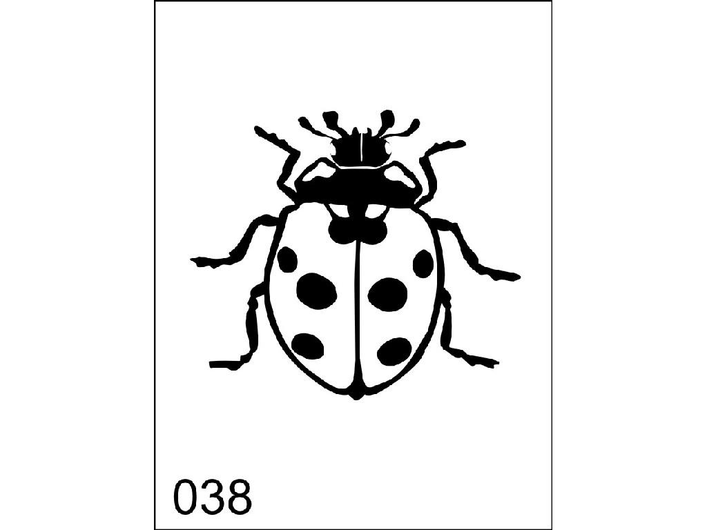 Šablona pro dočasné airbrush tetování M038 - 6,5 x 8,5 cm