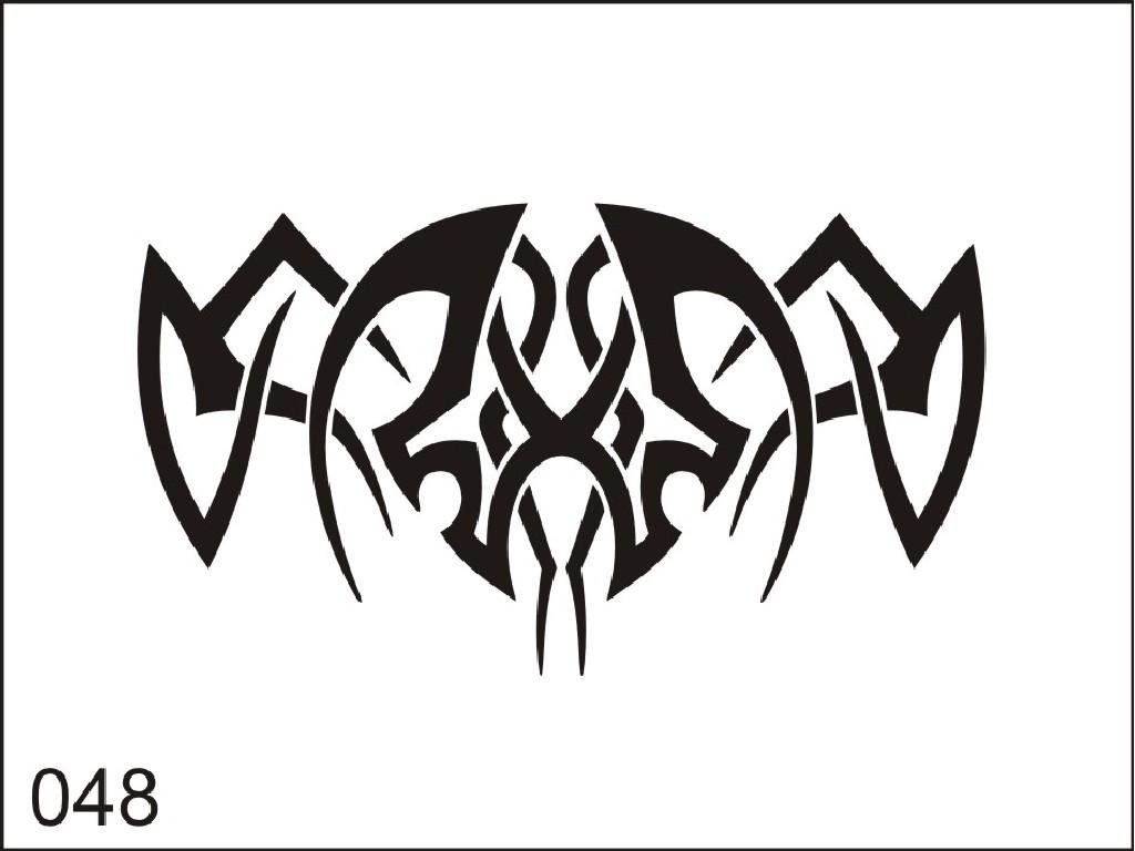 Šablona pro dočasné airbrush tetování M048 - 6,5 x 8,5 cm
