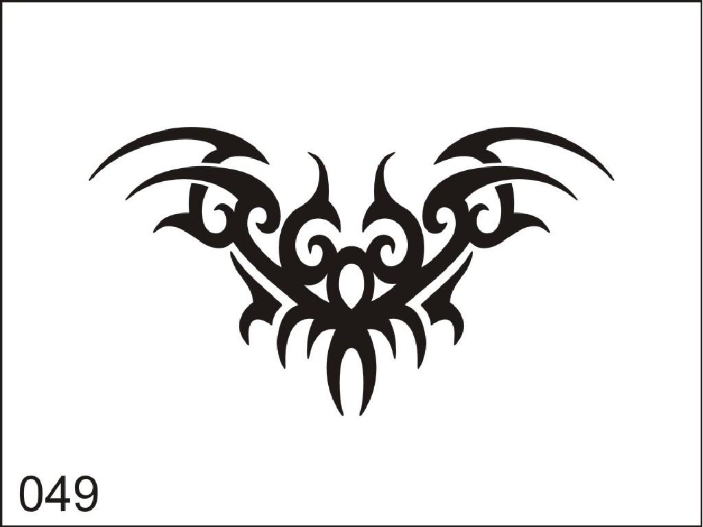 Šablona pro dočasné airbrush tetování M049 - 6,5 x 8,5 cm