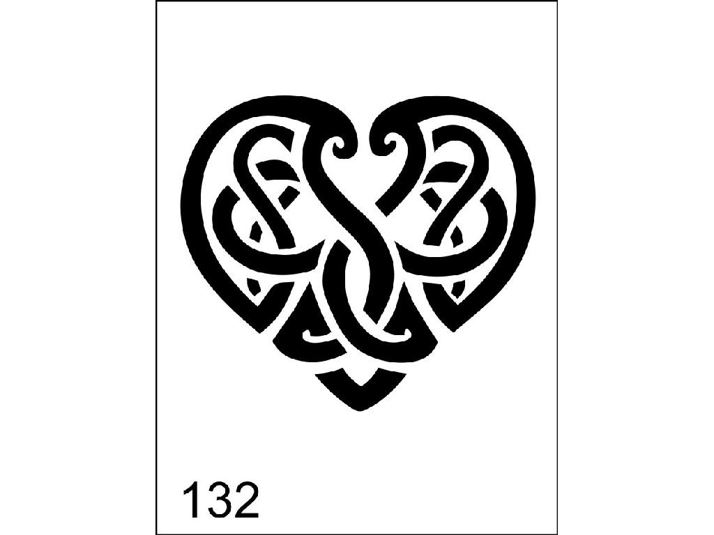 Šablona pro dočasné airbrush tetování M132 - 6,5 x 8,5 cm