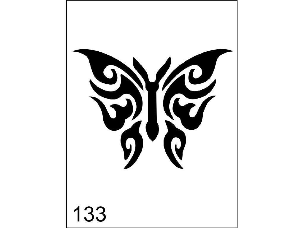 Šablona pro dočasné airbrush tetování M133 - 6,5 x 8,5 cm