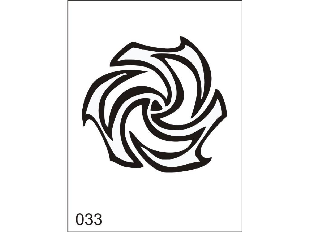 Šablona pro dočasné airbrush tetování V033 - 11,5 x 15,5 cm