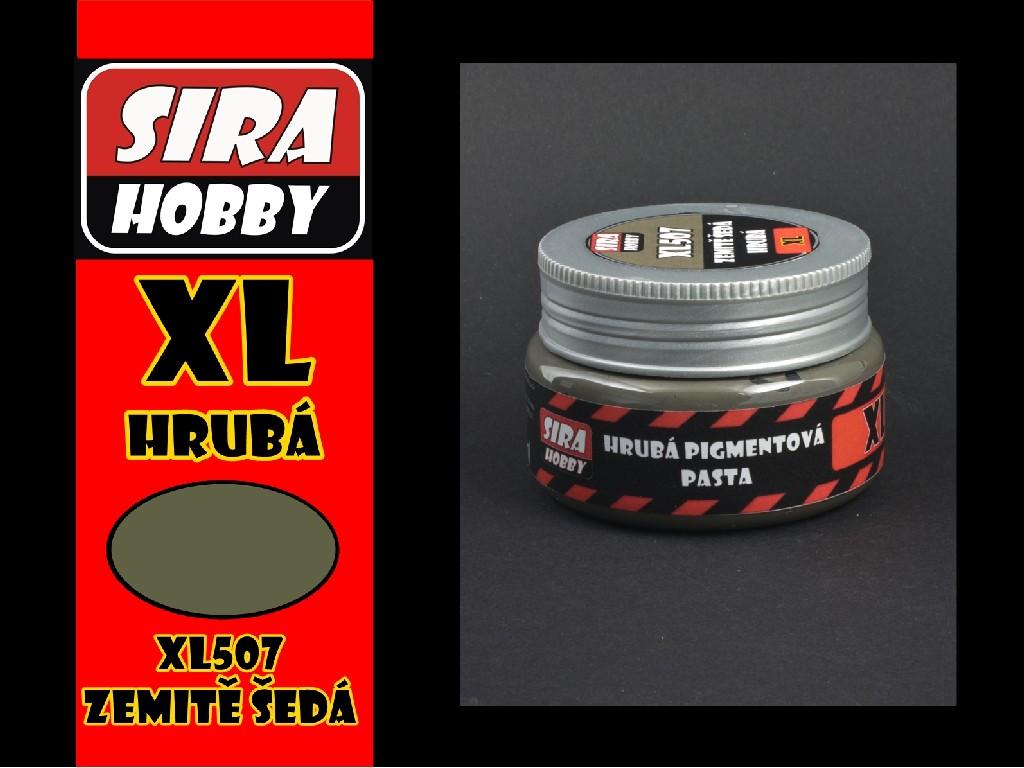 Síra hobby - Pigmentová pasta - Hrubá zemitě šedá 100ml