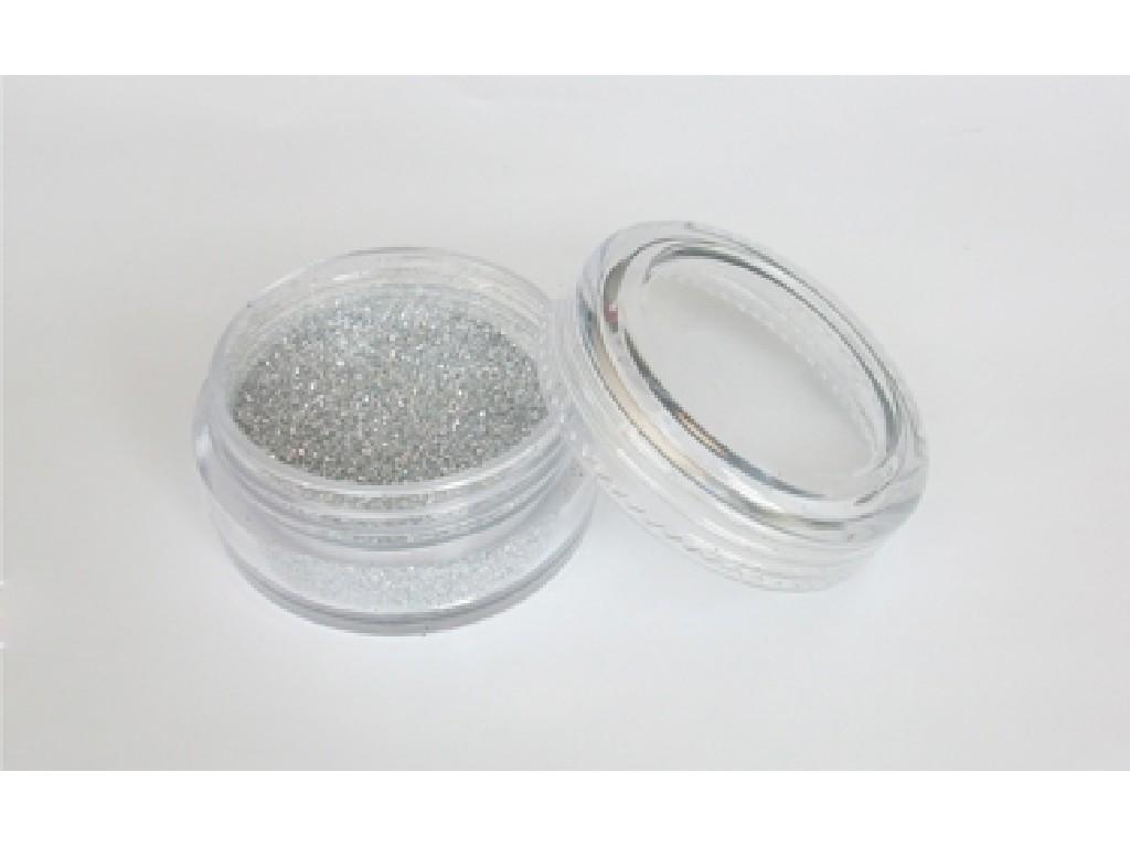 Třpytivý prášek - Silver 10 ml