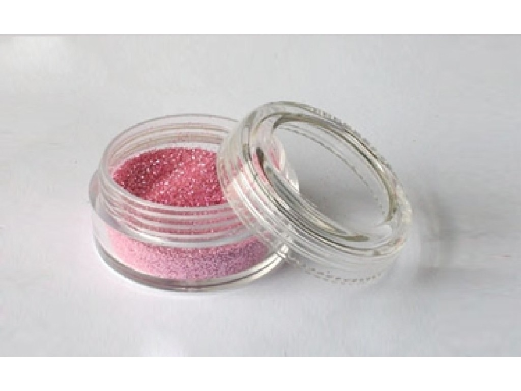 Třpytivý prášek - Baby pink 10 ml