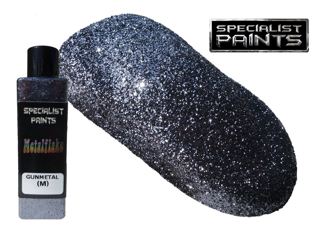 Metal Flake Gunmetal 50g vel. M (0,4 mm)