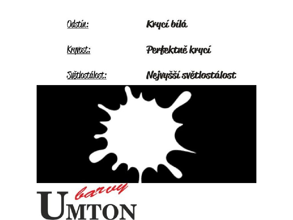 Olejová barva Umton - Běloba krycí 20ml