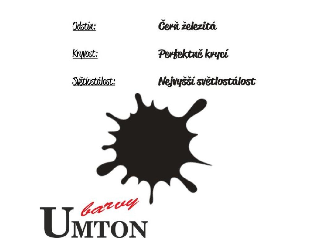 Olejová barva Umton - Čerň železitá 20ml