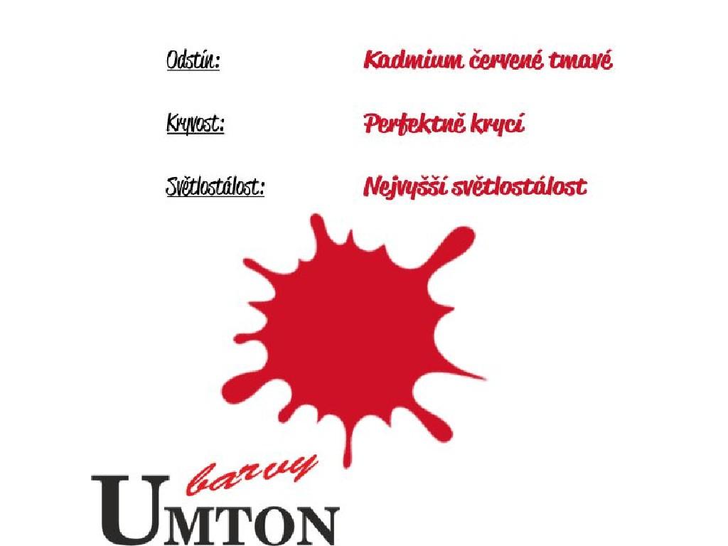 Olejová barva Umton - Kadmium červené tmavé 20ml