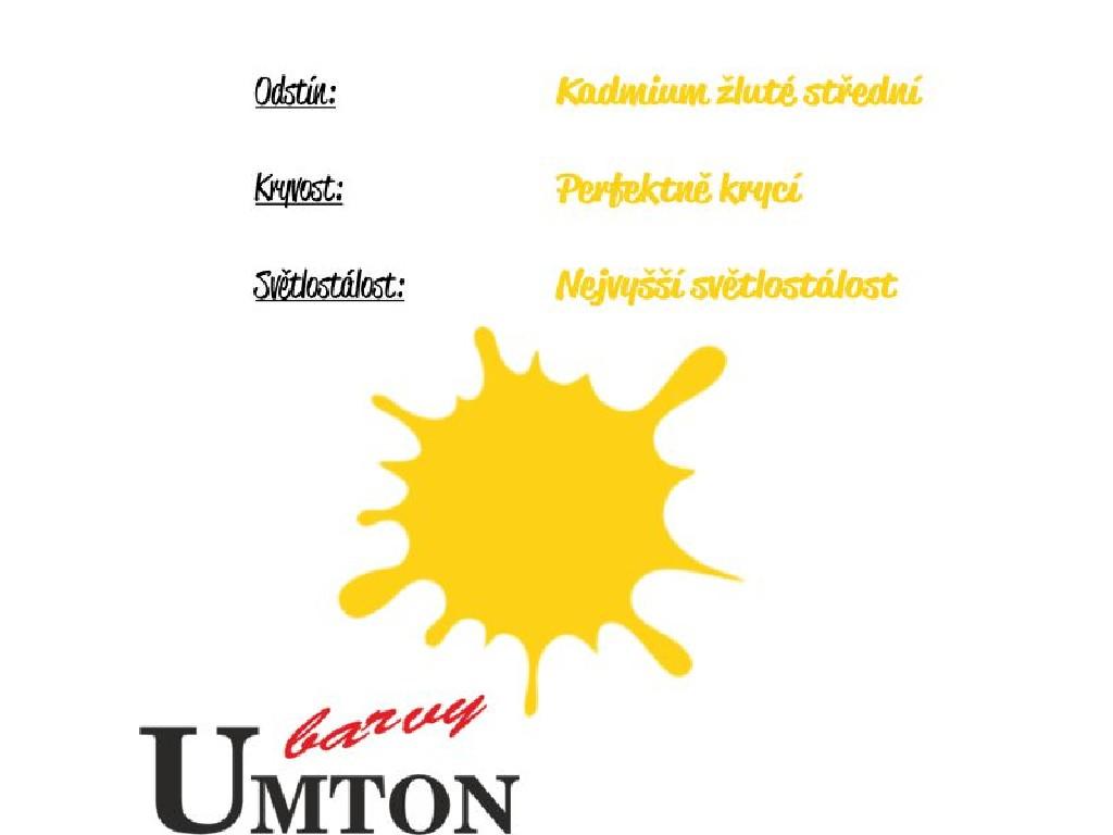 Olejová barva Umton - Kadmium žluté střední 20ml