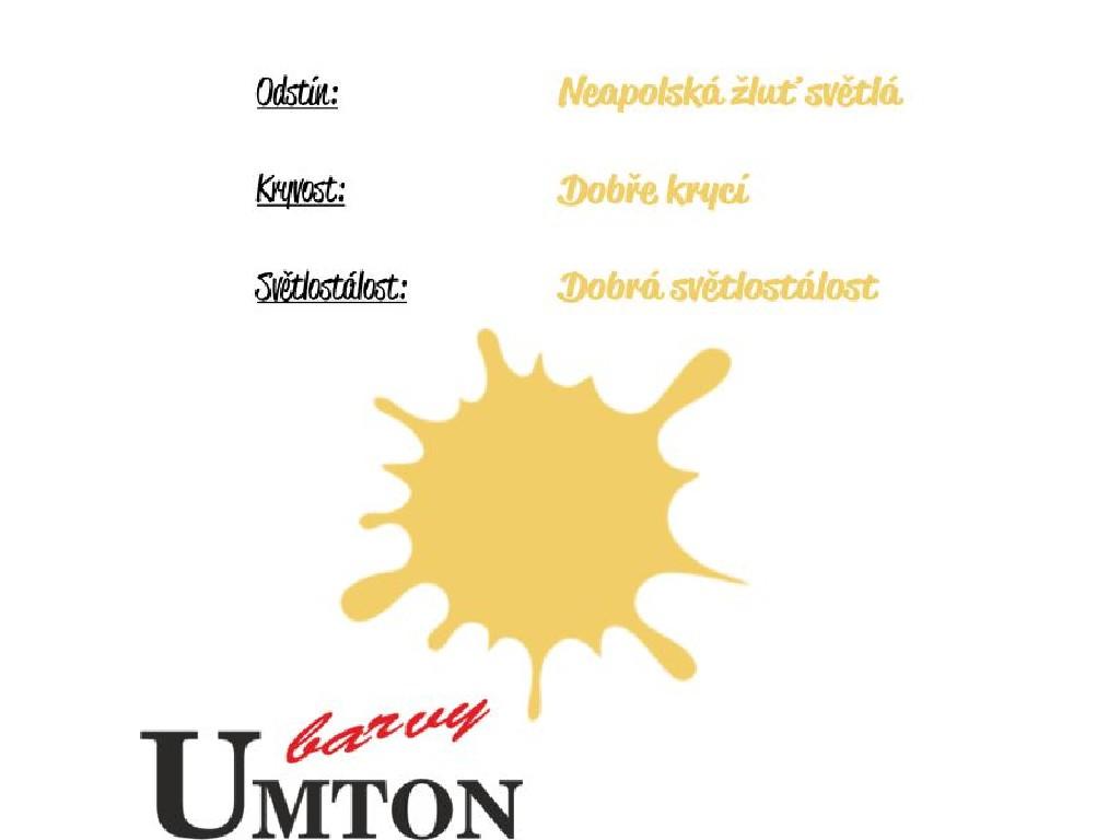 Olejová barva Umton - Neapolská žluť světlá 20ml