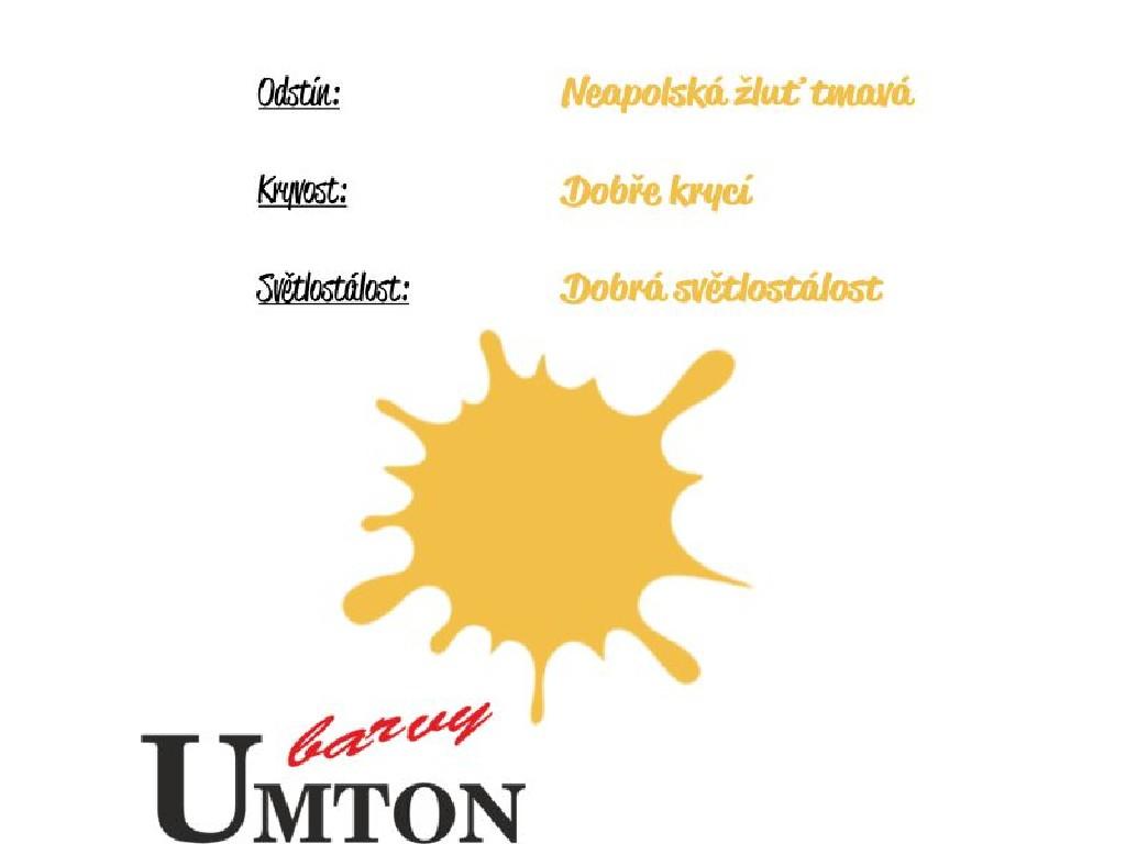 Olejová barva Umton - Neapolská žluť tmavá 20ml