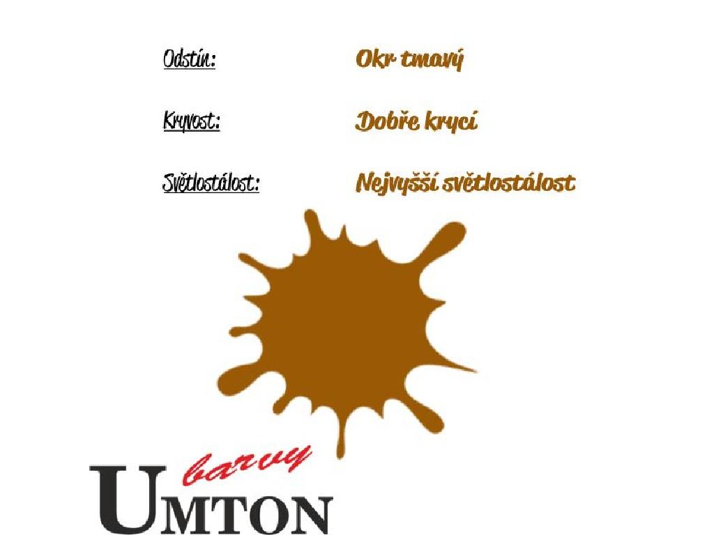 Olejová barva Umton - Okr tmavý 20ml