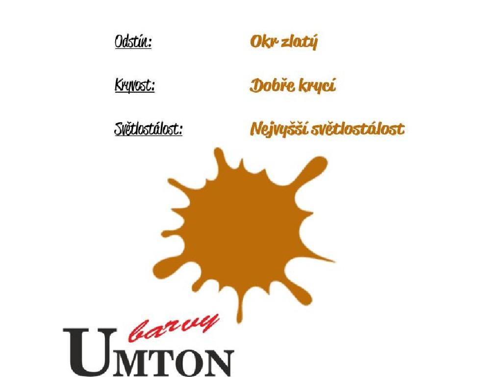 Olejová barva Umton - Okr zlatý 20ml