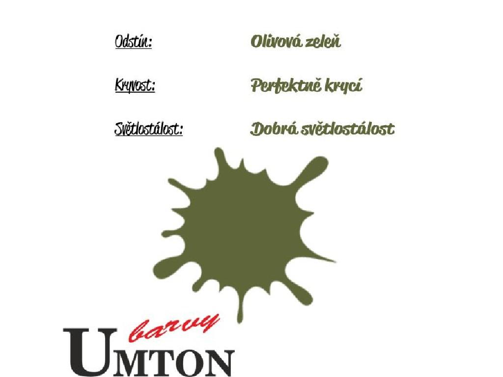 Olejová barva Umton - Olivová zeleň 20ml