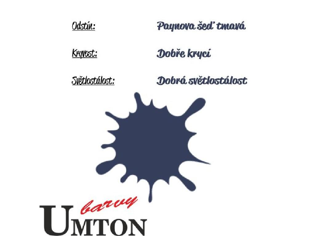 Olejová barva Umton - Paynova šeď tmavá 20ml