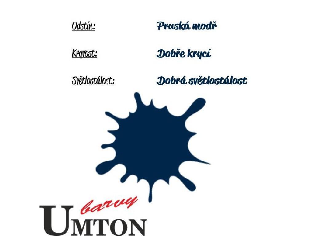 Olejová barva Umton - Pruská modř 20ml