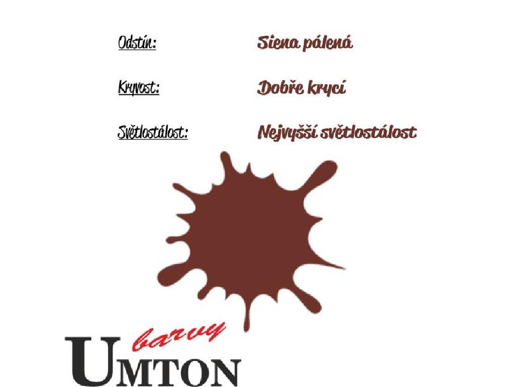 Olejová barva Umton - Siena pálená 20ml
