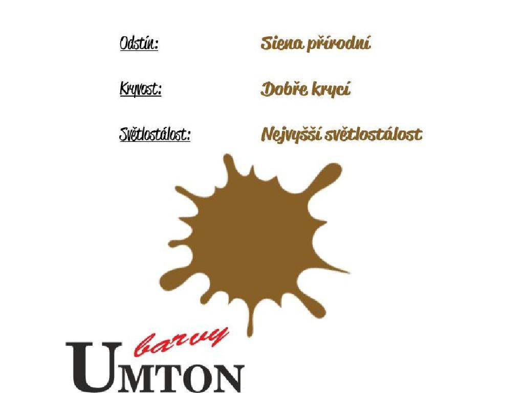 Olejová barva Umton - Siena přírodní 20ml