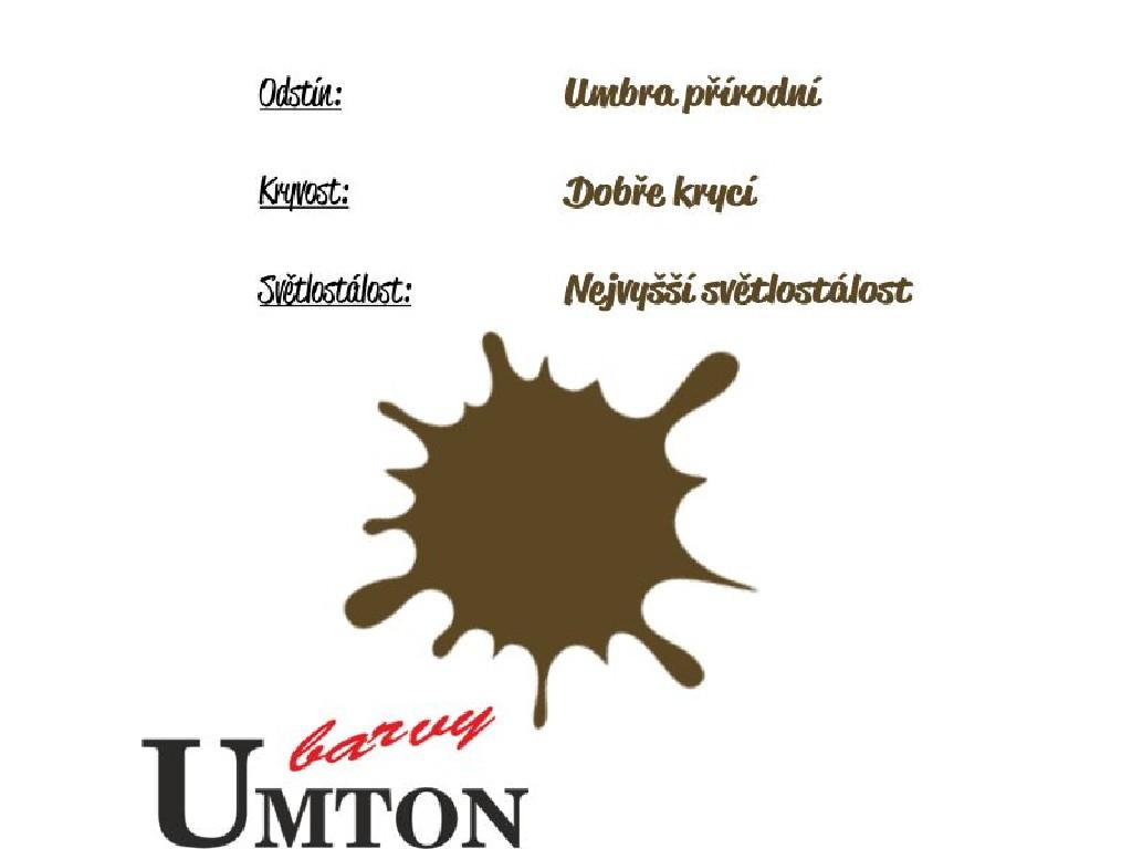 Olejová barva Umton - Umbra přírodní 20ml