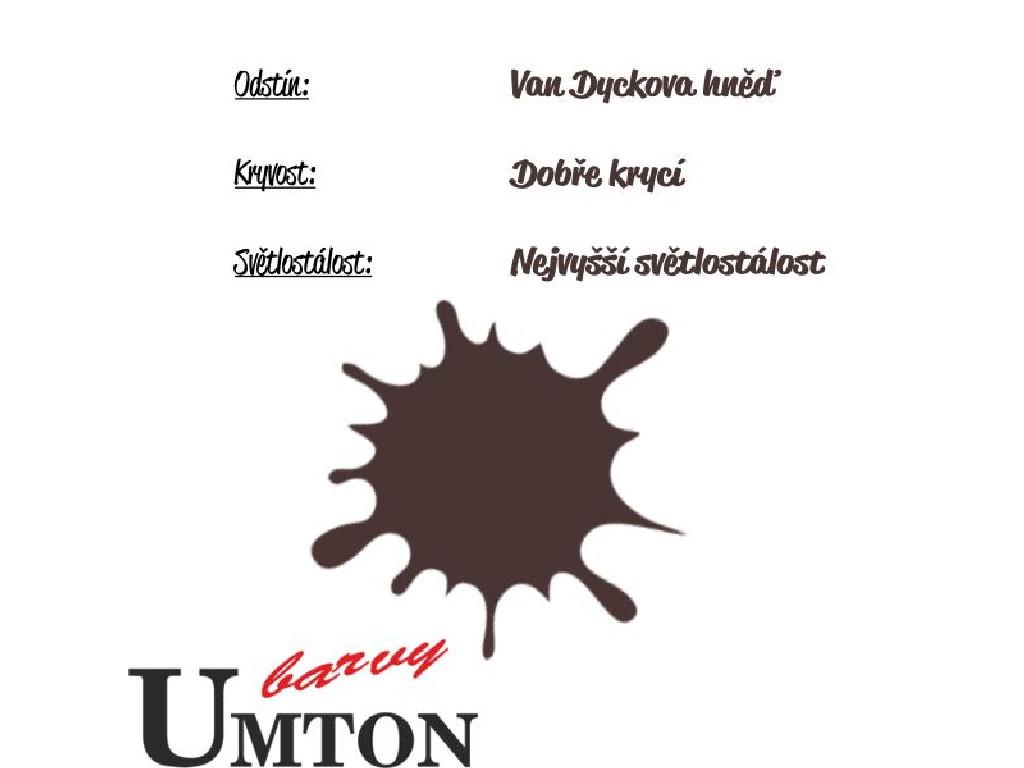 Olejová barva Umton - Van Dyckova hněď 20ml