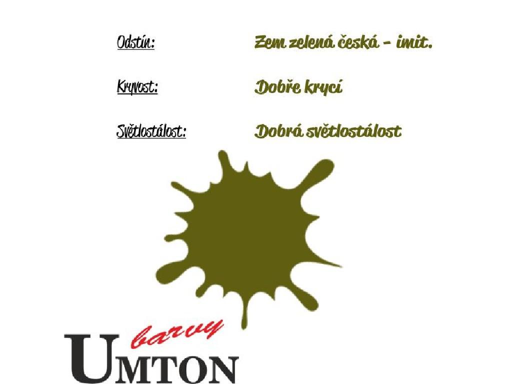 Olejová barva Umton - Zem zelená česká - imit. 20ml