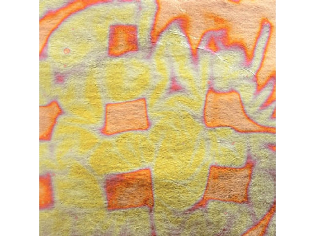 Handover - Imitace zlata - červená 140x140 mm 25 plátků